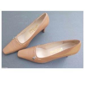 SALVATORE FERRAGAMO Brown Tassel High Heels